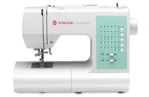 SINGER Confidence 7363 Electronic Sewing Machine with 30 Built-In Stitches, Built-In Needle Threader, & Drop-In Bobbin System - Sewing Made Easy